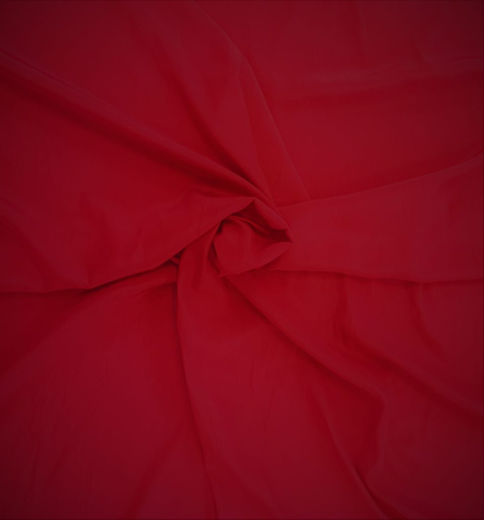 100% Polyester Red $18.99 Per mt 150cm Wide