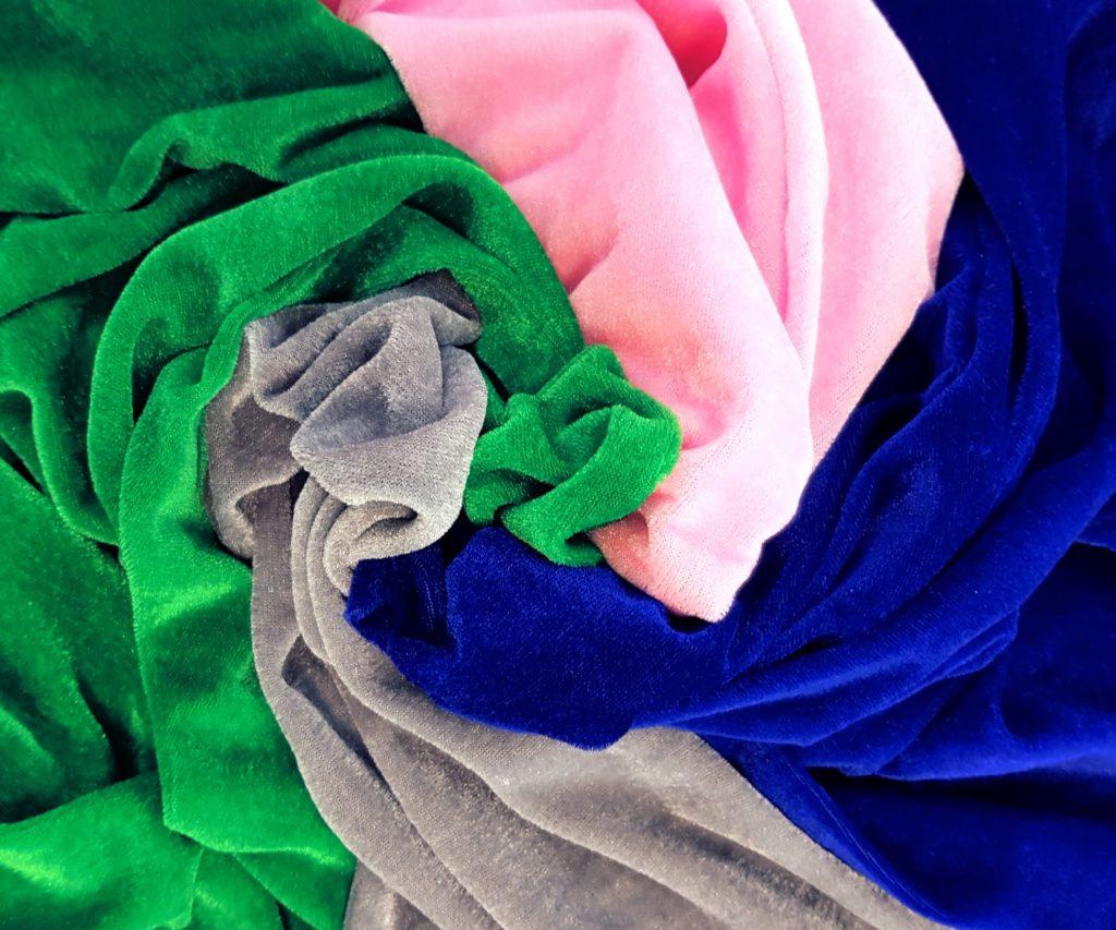 Panne Velvet 95% Polyester 5% Spandex $7.99Per mt 150cm Wide