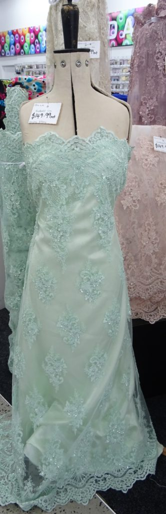 Hand Beaded Bridal & Evening Lace  – Range 2  $149.99 Per mt 125cm Wide